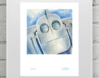 Iron Giant 4 Print Set - 4 8x10 inch prints for 50 Dollars! Great movie gift!