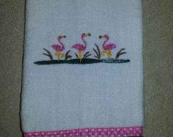 Embroidered Fingertip Towel