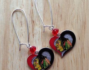 Chicago Blackhawks earrings