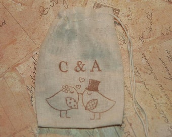 Wedding Ring Bag, Personalized Ring Bag, Ring Bearer, Ring Pillow Alternative, Love Birds, Rustic Wedding, Best Man Ring Bag, Ring Warming