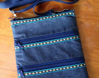 How to Make a Triple Zip Cross-body Bag PDF - Digital File DIRECT DOWNLOAD