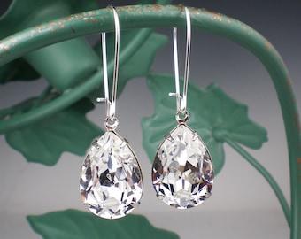Crystal Rhinestone Earrings Wedding Jewelry Bridesmaid Earrings  Bridal Jewelry
