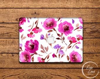 Floral print Macbook Decal / Macbook Sticker / Laptop sticker / Stickers macbook pro / Macbook Air sticker / Macbook pro 13 skin / EL012