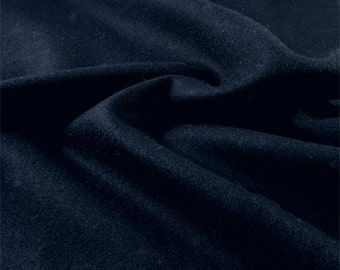 Navy Blue Wool Single Crepe, Fabric By The Yard