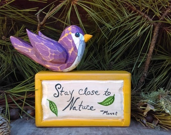 Poetry Blocks (Stay Close To Nature)