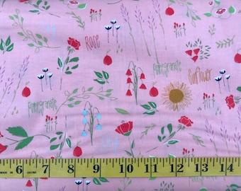 Moda The Front Porch Peach Garden by Sherri & Chelsi SKU# 37540-12 Cotton Fabric By the Yard