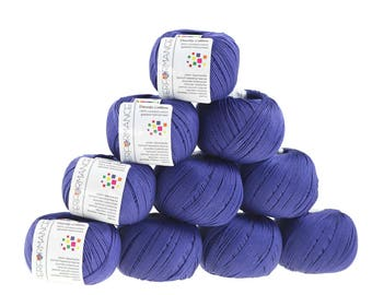 10 x 50g knitted yarn Dainty cotton, #75 Violet
