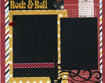 Rock & Roll - 12x12 Premade Scrapbook Page