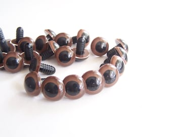 18mm brown eyes plastic eyes safety eyes - 5 pairs