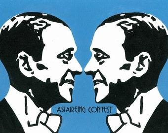 Astaireing Contest // Fred astaire pun art -  art print