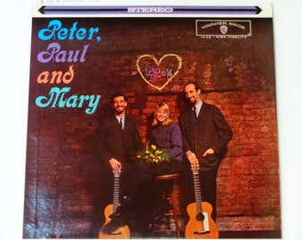 """Peter, Paul and Mary - """"Lemon Tree"""" - """"If I Had a Hammer"""" - Warner Brothers Records 1970 Re-Issue - Vintage Vinyl LP Record Album"""
