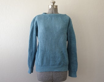 Vintage Big G Imports Blue 100% Cotton Sweater Size M | Made in Mexico