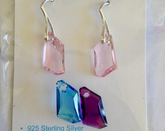 Sterling Silver Earrings made with Swarovski Crystal Elements