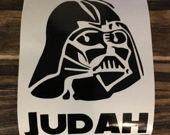 Darth Vader with name Decal | Darth Vader Yeti Decal | Darth Vader RTIC Decal | Darth Vader Car Decal | Customized Darth Vader Decal