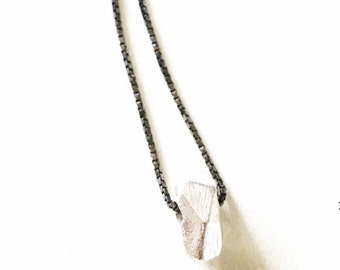 Litlle Rock pendant and chain. 925 sterling silver