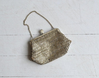 The Silver little bag - Antique 1930's evening bag