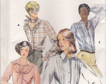 ON SALE 1970s Butterick No 5569 Sewing Pattern for Womens Blouse and Scarf Size 14   Bust 36 inch  Factory Folded Unused