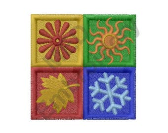 Four Seasons Quilt - Machine Embroidery Design