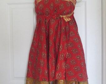 "Vintage Silk Wrap Skirt, 34"" Length, 1 SKIRT over 100 WAYS to WEAR"