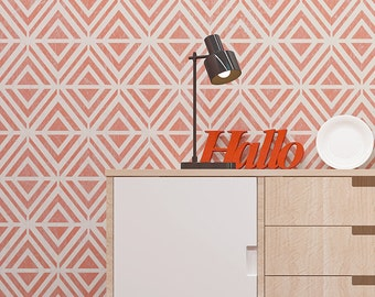 Awesome Geometric Pattern Wall Stencil - Seamless Pattern Reusable Stencil For Walls - Modern Desin Stencil