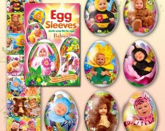 Babies #20 Easter egg sleeves Shrink wraps decoration
