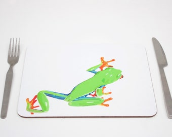 Tree Frog Placemats | Tropical Placmeat | Jungle Placemat | Animal Placemat | Chameleon Tablemat | Childrens placemat | Kids placemat