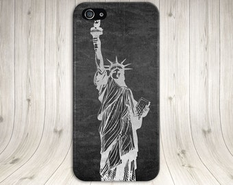 Metallic Statue of Liberty, Freedom Phone Case, iPhone X, iPhone 8 Plus, Tough iPhone, Galaxy s9, Samsung Galaxy Case, Note 8, CASE ESCAPE