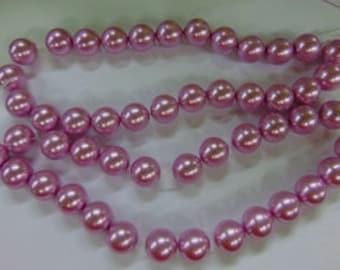 Perle en verre de 50 Perles - Perles de verre lilas de 16mm - perles - n'est plus disponible à partir de la montagne de feu