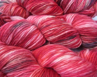 Crimson Clover Hand-Dyed Yarn, Superwash Merino Wool, Single Ply, DK Weight