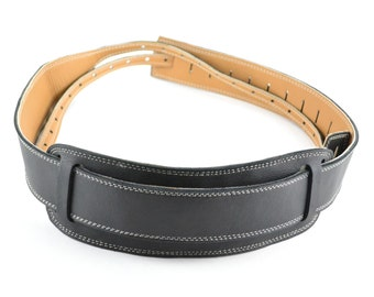 Leather Banjo Strap Handmade With Soft Sheep's Wool Shoulder Pad - Cradle or Hook Style, Black Garment Leather   BJ-100-1C