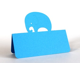 Elephant Place Cards, baby elephant, baby shower, escort cards, baby party, baptism, baptism lunch