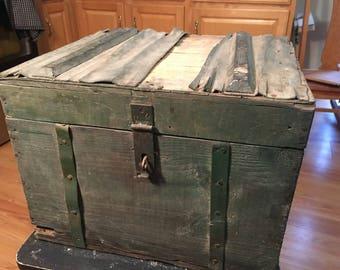 Vintage old barn wood box