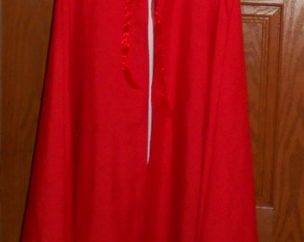 Kids light weight costume cloak - wizards cloak - little red riding hood - kids costume - renaissance cloak - SCA cloak - kids cape costume