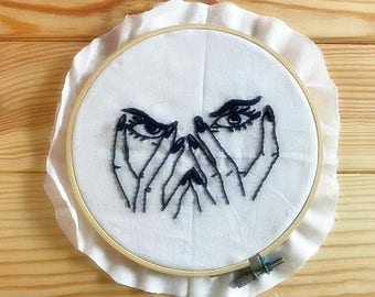 Hand Embroidery Hoop Wall Hanging