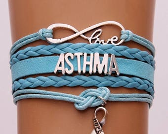 Asthma infinity bracelet