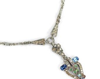 Art Deco Wedding Necklace, 1920s Wedding Jewelry, Vintage Necklace, Bridal Necklace, Art Deco Jewelry, Gatsby Necklace, Vintage Bride N1341