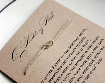 Rustic Wedding Favors, Wish Bracelet Wedding Favors, Barn wedding favor, wedding favors, reception favors for wedding, guest favors rustic