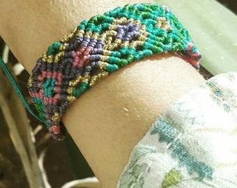 Bohojewellery macrame summer bracelet Micromacrame jewelry
