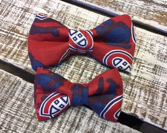 Montreal Canadiens Dog Bow Tie