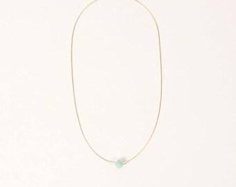 Septima Necklace / Amazonite