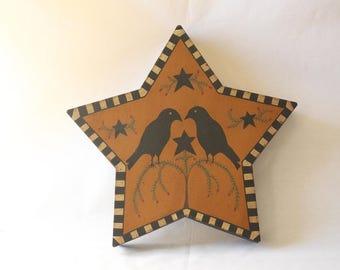 Raven Star-Shaped Box