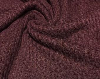 Waffle Weave Poly  Knit Fabric 1 Yard