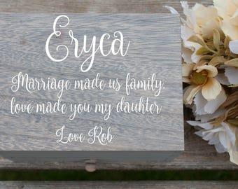 Blended Family Gift, Stepdaughter Gift, Step Daughter Gift, Stepdaughter Wedding Gift, Step Daughter Wedding Gift, Blended Family Wedding