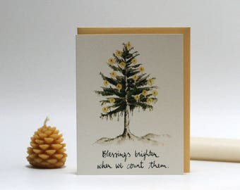 BLESSINGS BRIGHTEN  |  Greeting Card