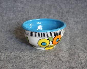 Fun Flowers Mini Bowl, Teacher Appreciation, Polka Dots, Stripes, Food prep bowls, dip bowls, jewelry dish, do what makes yours soul shine