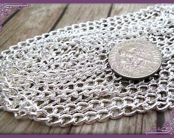 Bulk Silver Plated Curb Chain - 32 Feet - 10 Meters C2