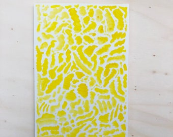 Artistic abstract Greeting card for all occasions – yellow