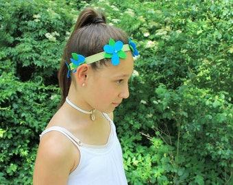 Trolls Headband, Poppy Troll Flower Headband,  Trolls Poppy Headband, Troll Floral Headpiece, Poppy Flower Crown, Troll Crown