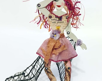 Expressive Paper Doll - Flushed with Pleasure