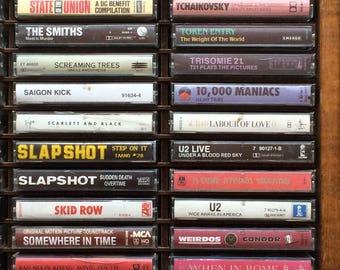 Punk, alternative, college rock, hardcore, retro cassettes